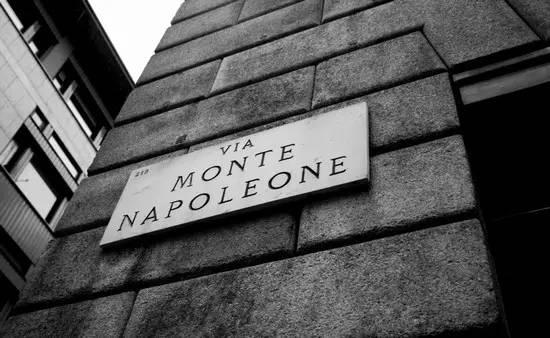 Via Montenapoleone大街
