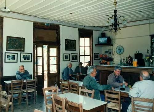传统的希腊咖啡馆