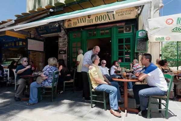 """雅典最早的希腊咖啡屋""""奥托的客栈"""""""