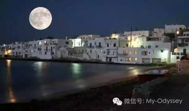 爱琴海上的另一颗璀璨明珠——米科诺斯岛上的月亮