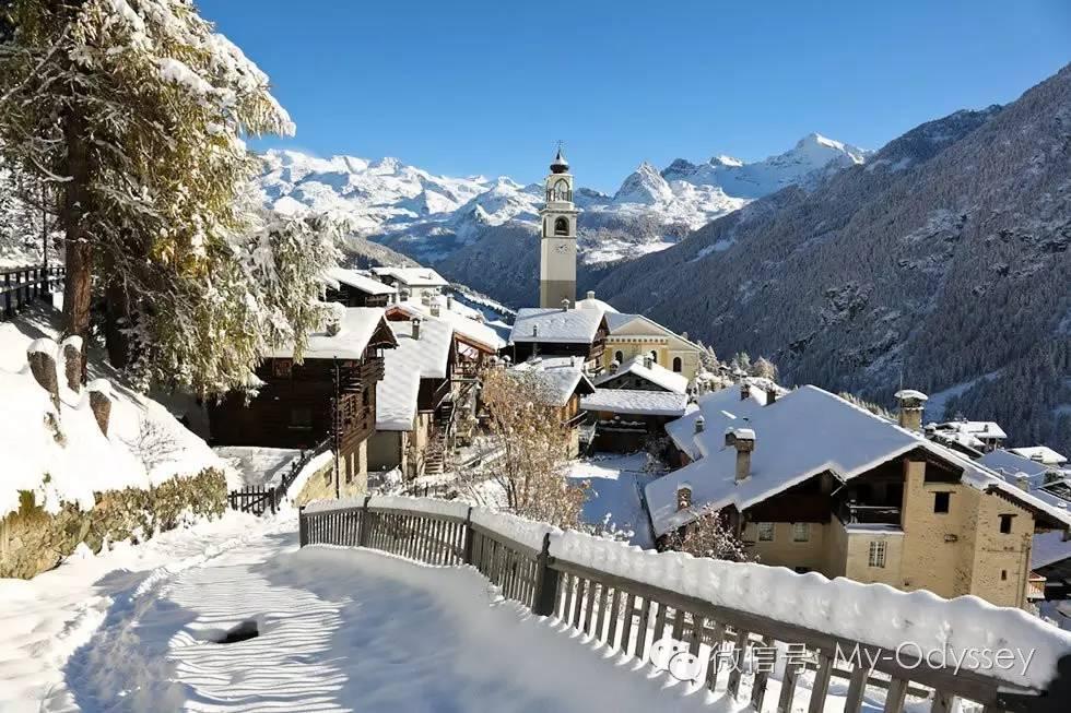 瓦莱达奥斯塔拥有欧洲一些最高的山峰