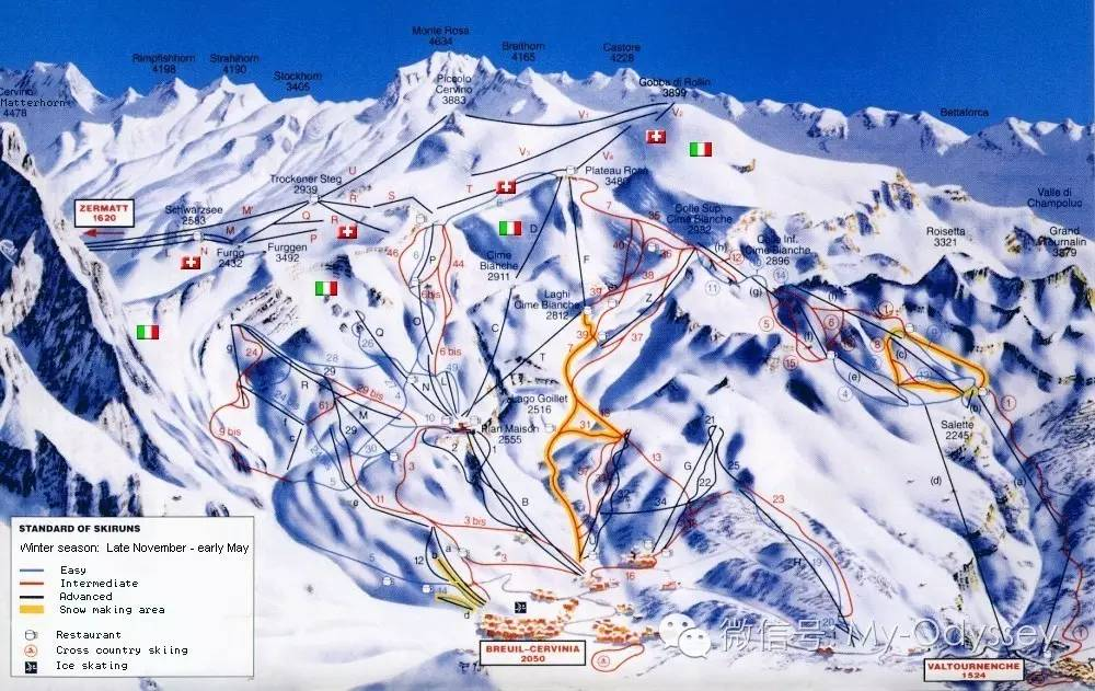 Breuil-Cervinia滑雪场极致体验