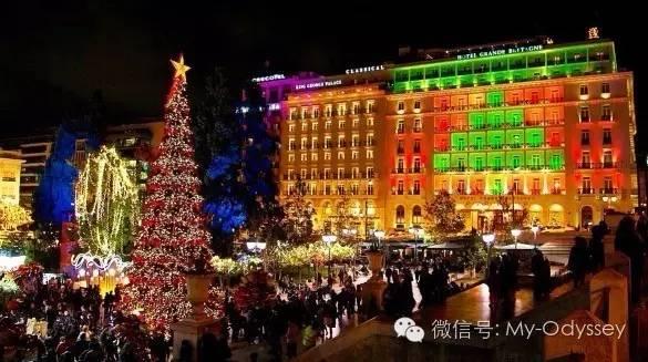 希腊冬天圣诞气氛渐浓
