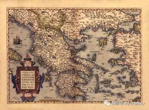 希腊仿古地图