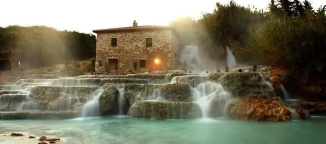 瀑布磨坊温泉—托斯卡纳