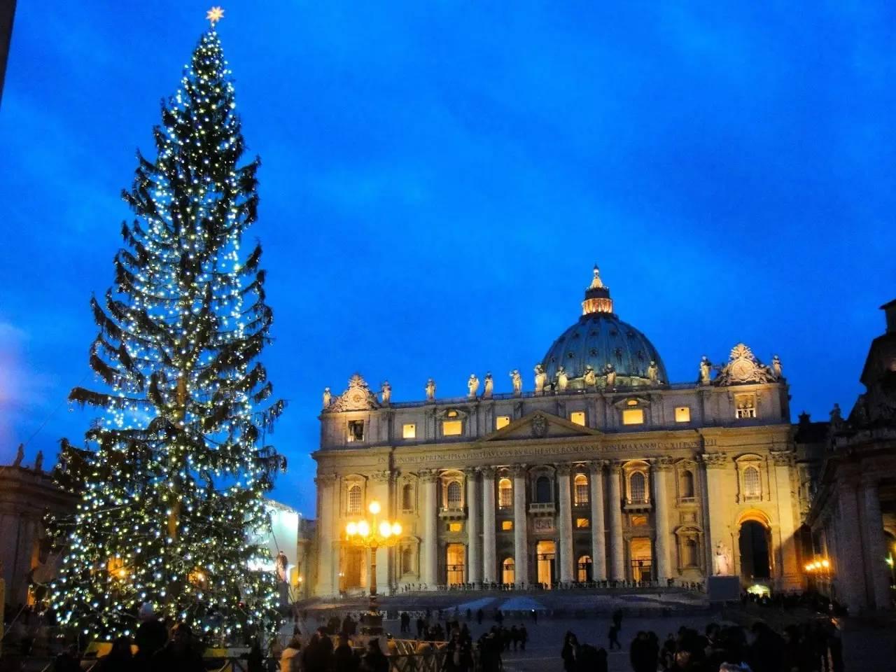 梵蒂冈庆祝的圣诞节