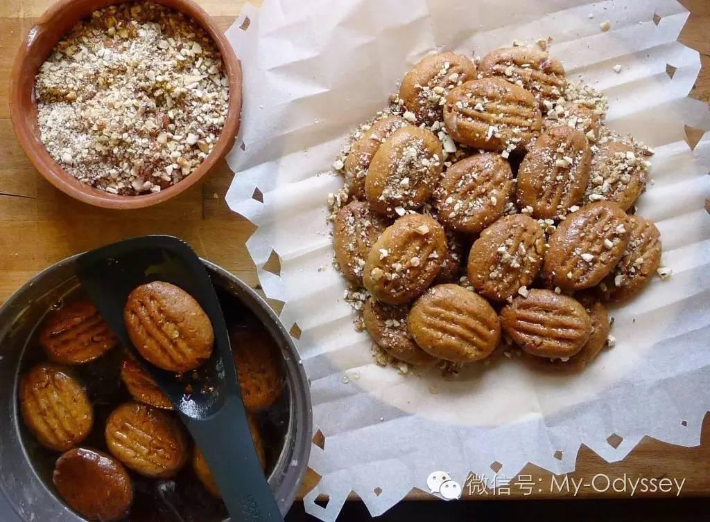 圣诞蜂蜜曲奇(Melomakarona Cookies)