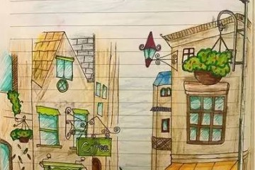 有一位小朋友,用画画的方式记录着自己旅行的意义